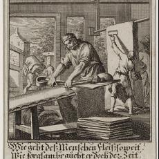 'Der Tuchscherer' - Jan Luyken, Caspar Luyken, Pictura (fotografie)