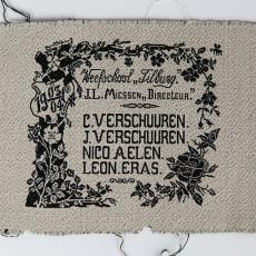 Proefstuk Weefschool Tilburg - Textielmuseum (Josefina Eikenaar), Weefschool Tilburg