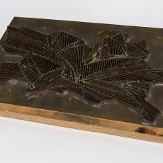 Batikstempel met gestileerd bladmotief - Reijer Stolk (Johan Antonie), Textielmuseum (Josefina Eikenaar), Textielmuseum (Josefina Eikenaar)