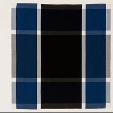 Geblokte zakdoek, oorspronkelijk ontworpen voor 'Kunst en Bedrijf' - Audax Textielmuseum Tilburg, Diek Zweegman, Textielmuseum (Josefina Eikenaar), Stichting Kunst en Bedrijf (Amsterdam)