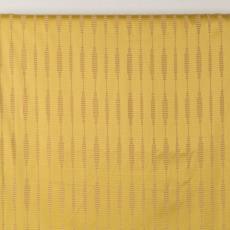 Geelkleurig gordijn met ophanglussen - Textielmuseum (Josefina Eikenaar), Textielmuseum (Josefina Eikenaar), Weverij De Ploeg (Bergeijk)