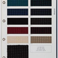 Stalenkaart Ploeg meubelstoffen 'Assisi' - Textielmuseum, Weverij De Ploeg (Bergeijk)