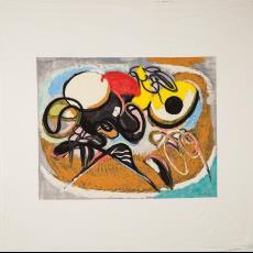 Sjaal 'Invaart', uit de serie 'With the Season's Greetings' - Textielmuseum (Josefina Eikenaar), Textielmuseum (Josefina Eikenaar), Gamma Holding, Piet Ouborg, Texoprint (Boekelo)