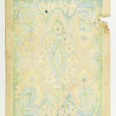 Ontwerptekening voor deken in Art Deco stijl - Johannes Borger, M. van Beurden-van Moll Wollendekenfabriek, Gustav Berndt, Textielmuseum (Josefina Eikenaar)