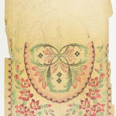 Ontwerptekening voor deken in Art Deco stijl - Textielmuseum (Josefina Eikenaar), M. van Beurden-van Moll Wollendekenfabriek, Gustav Berndt