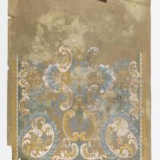 Ontwerptekening voor deken in Art Deco stijl - M. van Beurden-van Moll Wollendekenfabriek, Textielmuseum (Josefina Eikenaar), Gustav Berndt