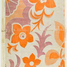 Patroontekening voor deken - Textielmuseum (Josefina Eikenaar), M. van Beurden-van Moll Wollendekenfabriek, Textielmuseum (Josefina Eikenaar)