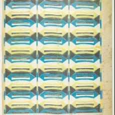 Ontwerptekening voor deken - Textielmuseum (Josefina Eikenaar), Gebr. Pilters, M. van Beurden-van Moll Wollendekenfabriek
