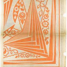 Patroontekening voor deken in Art Decostijl - M. van Beurden-van Moll Wollendekenfabriek, Textielmuseum (Josefina Eikenaar)