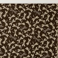 Gordijnstof uit 'Multifesta-reeks' met dessin van gestileerde vliegende libelles - Textielmuseum (Josefina Eikenaar), Weverij De Ploeg (Bergeijk), Textielmuseum (Josefina Eikenaar), Vlisco (Helmond), Frans Dijkmeijer