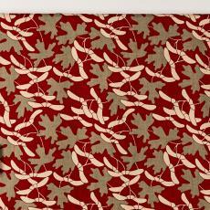 Gordijnstof uit 'Multifesta-reeks' met dessin van esdoornblad - Vlisco (Helmond), Frans Dijkmeijer, Textielmuseum (Josefina Eikenaar), Textielmuseum (Josefina Eikenaar), Weverij De Ploeg (Bergeijk)