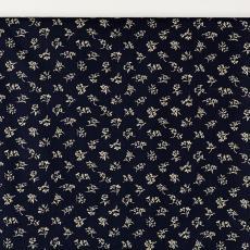 Gordijnstof uit 'Multifesta-reeks' met dessin van losstaande takjes met bladeren en een bloem - Textielmuseum (Josefina Eikenaar), Weverij De Ploeg (Bergeijk), Textielmuseum (Josefina Eikenaar), Vlisco (Helmond), Frans Dijkmeijer