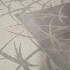 Grijs-ecru linnen handdoek met gestileerde vissen (?) en vogels (?) - Textielmuseum (Josefina Eikenaar), Linnenfabrieken E.J.F. van Dissel & Zonen (Eindhoven), onbekend, Textielmuseum (Josefina Eikenaar)