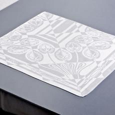 'Cyclamen', fragmenten van tafellaken (dessin 564) - Textielmuseum (Joep Vogels), Chris Lebeau, Linnenfabrieken E.J.F. van Dissel & Zonen (Eindhoven)