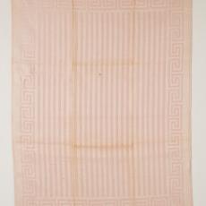 Linnen handdoek (dessinnr.1609), roze-ecru met meandermotief - Linnenfabrieken E.J.F. van Dissel & Zonen (Eindhoven), Kitty van der Mijll Dekker (Fischer-), Textielmuseum (Josefina Eikenaar)