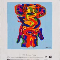 Sjaal 'Le Monstre' - Karel Appel, Texoprint (Boekelo)
