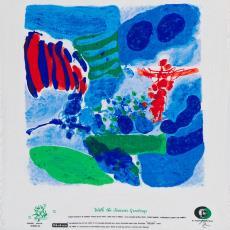 Sjaal uit de serie 'With Season's Greetings' - Jef Diederen, Textielmuseum (Josefina Eikenaar), Texoprint (Boekelo), Textielmuseum (Josefina Eikenaar)