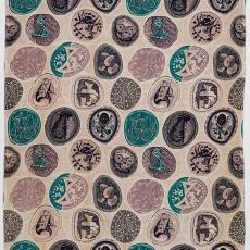 Gordijnstof uit de serie 'Saison Happily Married' - Textielmuseum (Josefina Eikenaar), Georges Braque, Textielmuseum (Josefina Eikenaar), Textielmuseum (Josefina Eikenaar), Bloomcraft Inc.