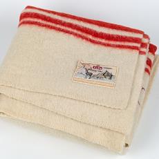 AaBe deken uit de dienstplicht van de Koninklijke Marine - Textielmuseum, Koninklijke AaBe Wollenstoffen- en Wollendekenfabrieken (Tilburg), Textielmuseum