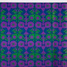 Gordijnstof 'Delphinea' met bloemenpatroon - Yvonne van Uden, International Kendix Textiles (Waalre), Textielmuseum (Josefina Eikenaar)