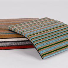 Kleurstaaltjes van karpet 'Cork & Felt' - Textielmuseum, Danskina, Textielmuseum, Kvadrat, Textielmuseum, Textielmuseum, Textielmuseum, Textielmuseum, Textielmuseum, Hella Jongerius