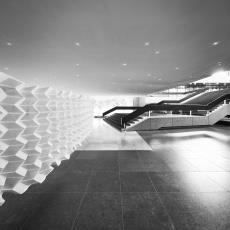 ARCHI FOLDS M (Miura Fold) uit serie Super Folds, fase 3, prototype - Samira Boon, Textielmuseum, Hulst, Rene van der, Hulst, Rene van der