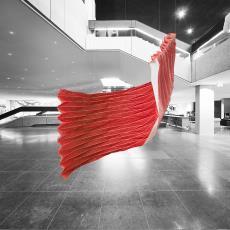 ARCHI FOLDS Y (Yoshimura Fold), uit serie Super Folds (fase 3), prototype - Hulst, Rene van der, Textielmuseum, Hulst, Rene van der, Samira Boon