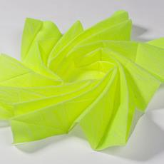 "ARCHI FOLDS D (Diaphragma) uit serie Super Folds (fase 3), prototypes (voorheen 'waterbomb"") - Textielmuseum, Textielmuseum (Josefina Eikenaar), Samira Boon"
