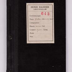 Stalenboekje met galons voor paramenten (643) - H.H. Kolthof N.V., Textielmuseum, Henri Rahder, Textielmuseum, Textielmuseum