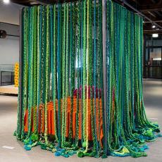 'Hemelbed' - Nederlands Textielmuseum, Textielmuseum (Joep Vogels), Textielmuseum (Joep Vogels), Textielmuseum (Josefina Eikenaar), Fransje Killaars