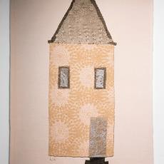 'Town house_wallhanging' - Textielmuseum (Joep Vogels), Audax Textielmuseum Tilburg, Kiki van Eijk