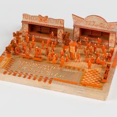 Maquette 'Verkoop petten' - Textielmuseum (Josefina Eikenaar), J.H.J. van Melis, Textielmuseum (Josefina Eikenaar)