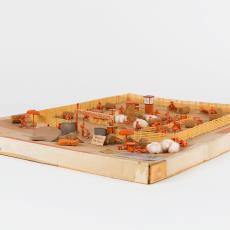 Maquette 'Buitenbromfietsviltbaan' - Textielmuseum (Josefina Eikenaar), J.H.J. van Melis, Textielmuseum (Josefina Eikenaar)