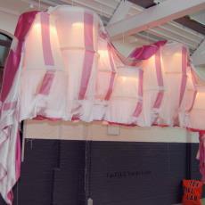 Prototype van de geweven lamp 'Multiply' - Van Eijk & Van der Lubbe, Audax Textielmuseum Tilburg, Textielmuseum (Joep Vogels), Textielmuseum (Joep Vogels), Textielmuseum (Joep Vogels), Textielmuseum (Joep Vogels), Textielmuseum (Joep Vogels), Textielmuseum (Joep Vogels)