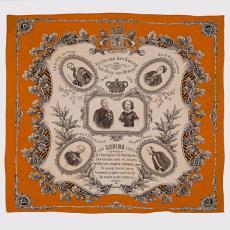Gedenkdoek ter gelegenheid van het 25-jarig regeringsjubileum van koning Willem III - P.F. van Vlissingen & Co. (Helmond), Textielmuseum (Josefina Eikenaar)