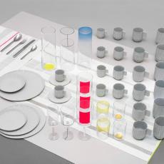'Paper porcelain', porseleinen servies uit het project 'Total Table Design' - Scholten & Baijings, Textielmuseum (registratiefoto), Scheltens & Abbenes, Textielmuseum (registratiefoto), Audax Textielmuseum Tilburg, Europees Keramisch Werkcentrum