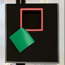 'Grote Kraag', uit serie: 'Over-alls' - Joke Brakman, Textielmuseum (Josefina Eikenaar), Claudie Berbée