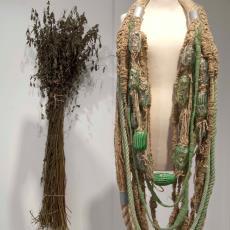 Halssieraad 'Groen 01' - Nationaal Glasmuseum, Audax Textielmuseum Tilburg, Textielmuseum (Joep Vogels), Brennels, Textielmuseum (Joep Vogels), Willemijn de Greef