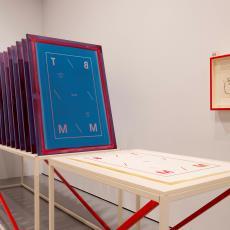 Zeefdrukramen van 'BTMM1514 (Turkish Red)' - Studio Formafantasma (Andrea Trimarchi en Simone Farresin), Audax Textielmuseum Tilburg, Zangheri G&V, Lange, Tommy de