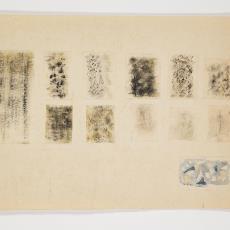 Ontwerptekening met zwart, bruin, olijfgroene patronen - Lange, Tommy de, Désirée Scholten-van de Rivière