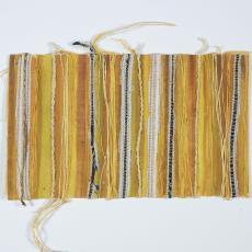 Ontwerp met gouacheverf en textiel in geel/bruin - Lange, Tommy de, Désirée Scholten-van de Rivière