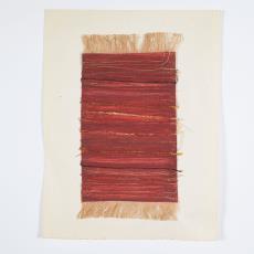 Ontwerp met gouache en textiel in kleur terra - Désirée Scholten-van de Rivière, Lange, Tommy de