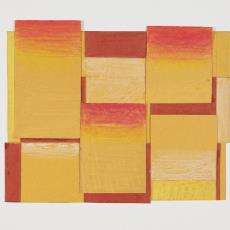 Ontwerptekening van op elkaar geplakte rechthoeken en vierkanten - Herman Scholten, Lange, Tommy de