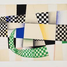Ontwerptekening: grafische vorm van vierkanten en lijnen - Lange, Tommy de, Lange, Tommy de, Herman Scholten