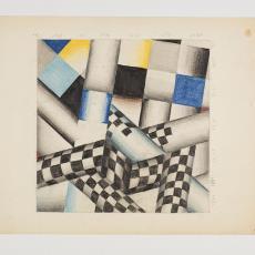 Ontwerptekening: grafische vorm van vierkanten en lijnen - Herman Scholten