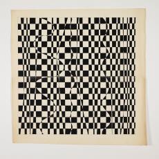 Ontwerptekening: grafische vorm van vierkanten en golvende lijnen - Lange, Tommy de, Herman Scholten