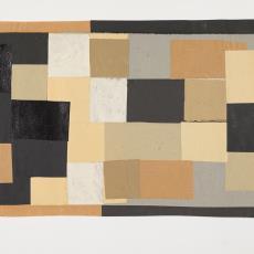Collage in blokpatroon in zwart, beige, grijs, wit - Lange, Tommy de, Herman Scholten