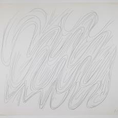 Ontwerptekening in potlood met golvende lijnen - Herman Scholten, Lange, Tommy de