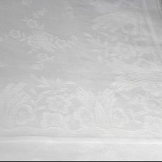 Tafellaken met motief van grassen en bloemen (dessinnr. 15) - Textielmuseum (registratiefoto), Koninklijke Weverij Van Dijk (Eindhoven)