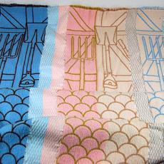 Proef voor dekens uit de installatie 'WashHouse' - Audax Textielmuseum Tilburg, Studio Makkink & Bey